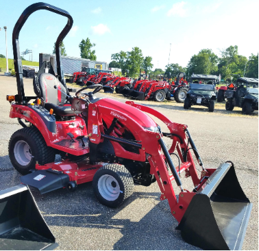 Mahindra eMax 20S with Loader & Belly Mower