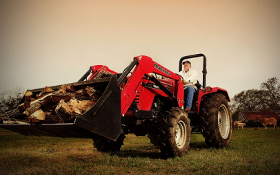 Mahindra 4540 4wd Gear Tractor with Loader
