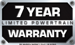 Mahindra 7 Year Limited Powertrain Warranty