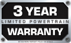 Mahindra 3 year Limited Powertrain Warranty